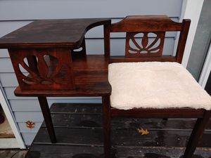 Refinished Antique phone table for Sale in Utica, MI