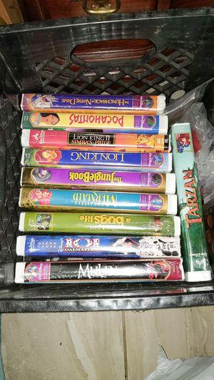 10 Walt Disney VHS movies (5 or still sealed) for Sale in Pasadena, TX