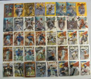 Topps Finest Baseball Peel and Remove 1996 to 1997 (75) Cards with (1) Common Refractor and (7) Rare Cards. for Sale in Los Angeles, CA