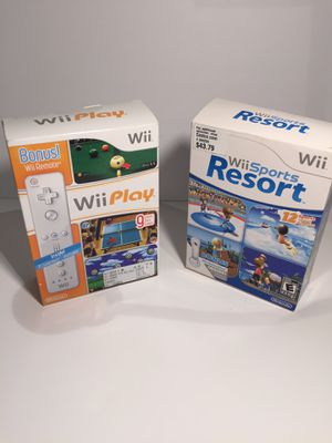 Nintendo Wii Sports and Wii Play Bundle!! Amazing Bundle With Controller And Accessories for Sale in Concord, CA