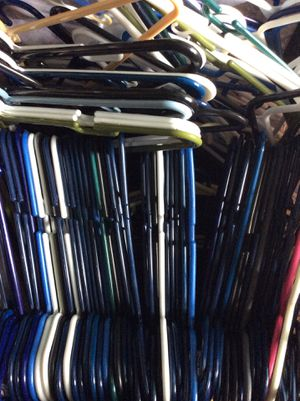 50 plastic hangers-adult size-comment only if ready to buy thanks for Sale in Portsmouth, VA