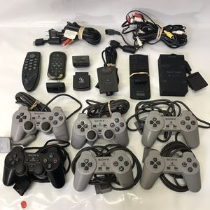 Playstation 1 ps1 ps2 controllers av cables and cords with accessories remote for Sale in Rockville, MD