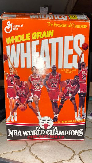 Limited edition 1991 Bulls Wheaties Cereal box for Sale in Chicago, IL