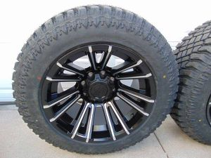 NEW Satin Black/Machined Accents 20X12 Rims LT 305 55 20 Tires *8X180* for Sale in Aurora, CO