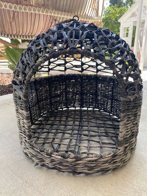 Wicker rattan pet dog bed house for Sale in Los Angeles, CA