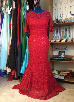 NEW Red Sequined Lace elegant Dress for Sale in Fairfax, VA