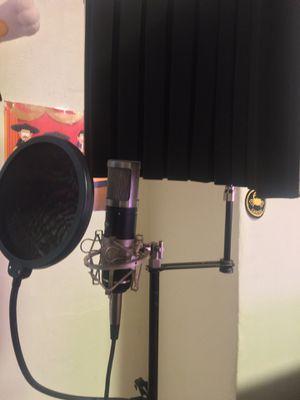 Studio Mic, Mic Stand , Interface, HeadPhones,Pop Filter,Speakers for Sale in Los Angeles, CA