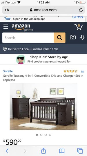 Crib and changing table for Sale in New Port Richey, FL