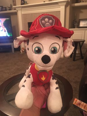 PAW PATROL TALKING 13 INCH SOFT TOY! PRESS HIS BADGE TO HESR HIM TALK!! Clean! Price is firm for Sale in Modesto, CA