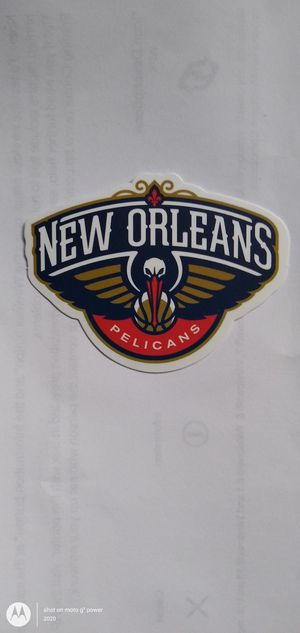 NBA NEW ORLEANS PELICANS BASKETBALL TEAM LOGO DECAL STICKER for Sale in Montclair, CA