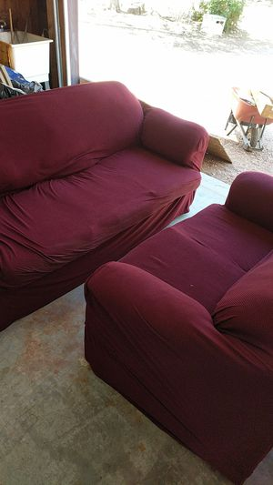 Free couch and love seat with covers for Sale in Payson, AZ