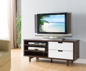 NEW, TV STAND - Dark Walnut-White, SKU# 161478 for Sale in Santa Ana, CA