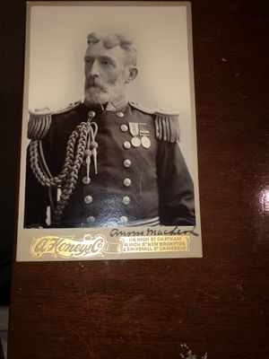 ANTIQUE MILITARY ADMIREL CABINET CARD PHOTO SIGNED. for Sale in The Bronx, NY