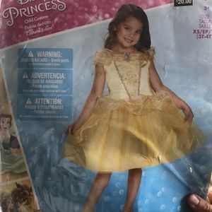 Disney Princess Beauty and the Beast Belle Toddler Classic Costume - 3T-4T for Sale in Inglewood, CA