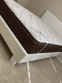 New Queen Size Frame And Mattress for Sale in Garden Grove,  CA