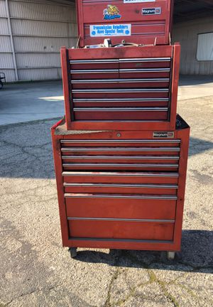 Tool box with tools included for Sale in Dinuba, CA