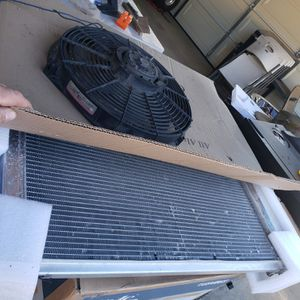 Electric fan and aluminum champion radiator for Sale in DEVORE HGHTS, CA