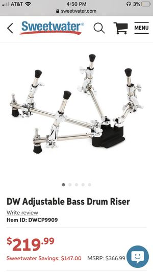 DW Adjustable Bass Drum Riser for Sale in Los Angeles, CA