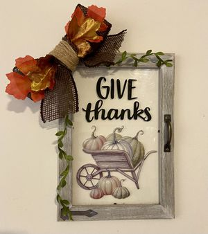 Transparent Cabinet Door Wall Decor Thanksgiving for Sale in Kearny, NJ