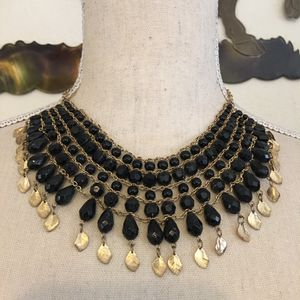 Vintage cleopatra style black bead necklace for Sale in Henderson, NV
