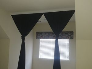 Urgent sale! Black drapes and Rod for Sale in Tulsa, OK