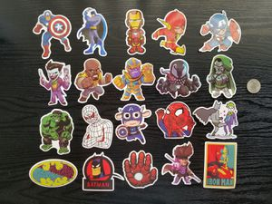 Random Mix Cartoon Anime Manga Boys Characters Waterproof Stickers Decals 200pc for Sale in Torrance, CA