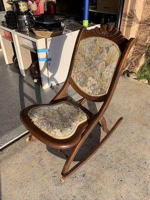 Antique wooden foldable rocking chair for Sale in Las Vegas, NV
