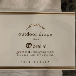 "Outdoor Drape Sunbrella ""Grommet"" for Sale in Turlock, CA"