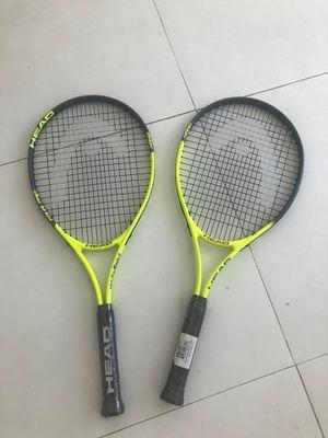 Brand New x2 HEAD Tour Pro Nano Titanium Tennis racket - 4-1/4 grip for Sale in Miami, FL