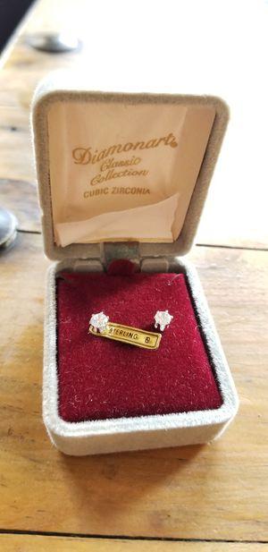 Fake diamonds earrings for Sale in Oakland, CA