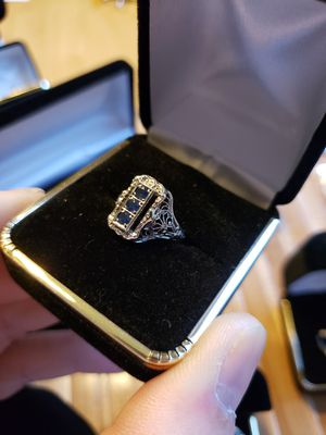 Solid silver 1 ct filligree ring sz 7 for Sale in Meriden, CT