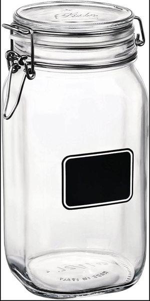 Glass Jar 50 oz Bormioli Fido Chalkboard Air Tight Lid Storage Canning Mason Jar for Sale in DeBary, FL