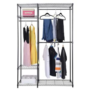 Costway 48''x18''x71'' Closet Organizer Garment Rack Portable Clothes Hanger Home Shelf for Sale in West Covina, CA