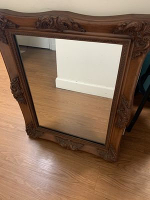 Fine wooden carvings antique style mirror for Sale in Fremont, CA