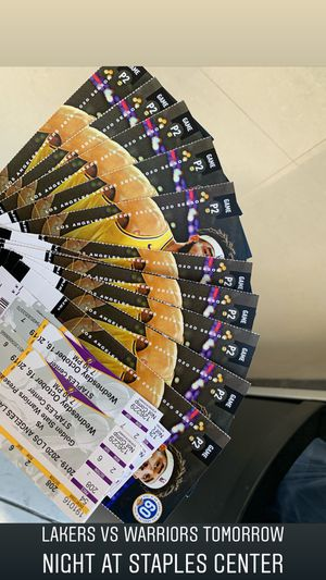 Lakers VS Warriors tickets for Sale in Los Angeles, CA