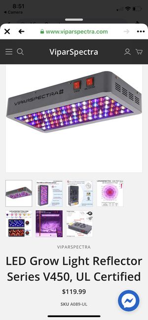 ViparSpectra V450 (450w) Grow Light - Brand New!! for Sale in Marlborough, MA
