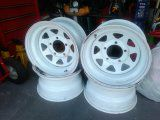 Four white pick up truck or Jeep wheels 5 lugs for Sale in Kissimmee, FL