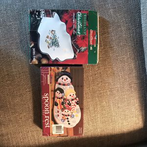 Holiday Spoon Rest And Dish for Sale in Pepperell, MA