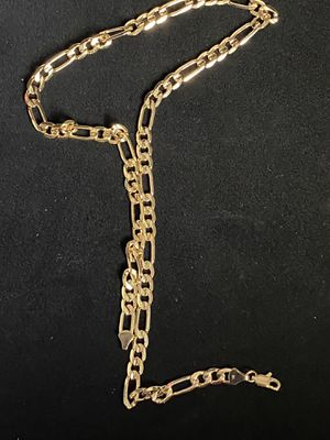 "Figaro Link Chain 18K Yellow Gold 24"" Length 35grams for Sale in Charlotte, NC"