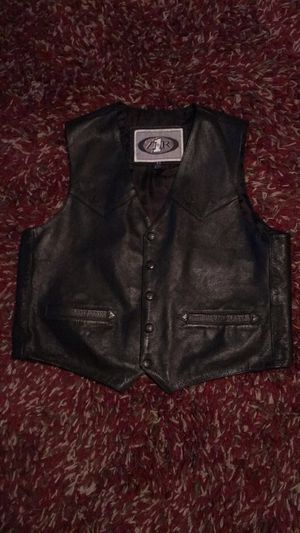 Motorcycle leather vest for Sale in Clovis, CA