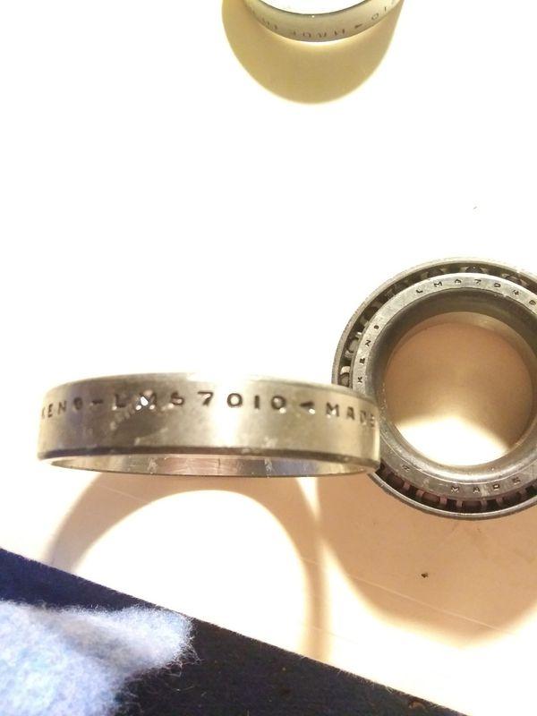 Old timpken bearings and parts