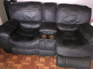 Black recliner sofas for Sale in Brooklyn, NY