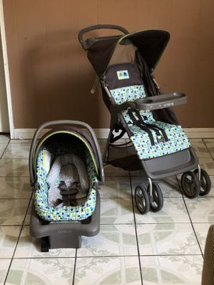 LIKE NEW COSCO TRAVEL SYSTEM STROLLER CAR SEAT AND BASE for Sale in Riverside, CA