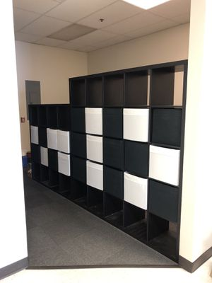 IKEA shelving with storage bins for Sale in Aurora, CO