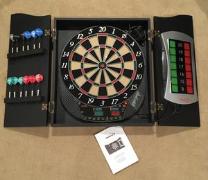 HALEX Cricket View 500 Electronic Dart Board in Wood Cabinet for Sale in Rockville, MD