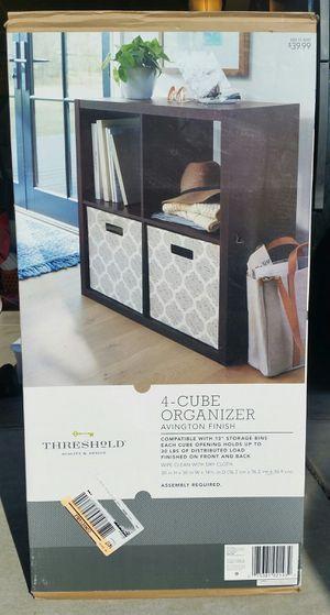 Threshold 4-Cube Organizer, furniture, bedroom, kids, closet, kitchen, drawer, women's, iPhone, samsung for Sale in Dos Palos, CA