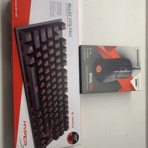 Hyperx Keyboard And Steelseries Mouse for Sale in Rancho Santa Margarita, CA
