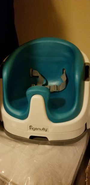 Ingenuity Baby Base 2-in-1 Seat - Ultramarine Green - Booster Feeding Seat for Sale in Austin, TX