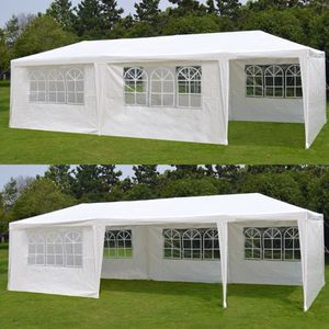 Zeny 10'x 30' White Gazebo Wedding Party Tent Canopy With 6 Windows & 2 Sidewalls-8 for Sale in Las Vegas, NV