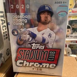 2020 Topps chrome Stadium Club Baseball Blaster Box SEALED for Sale in Camp Springs, MD